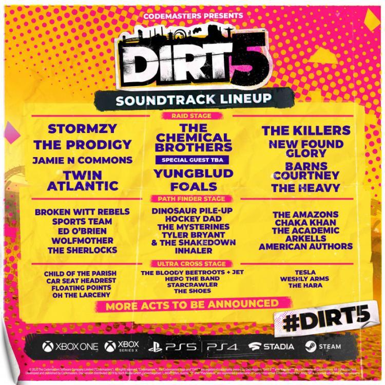 Объявлен список песен в DiRT 5
