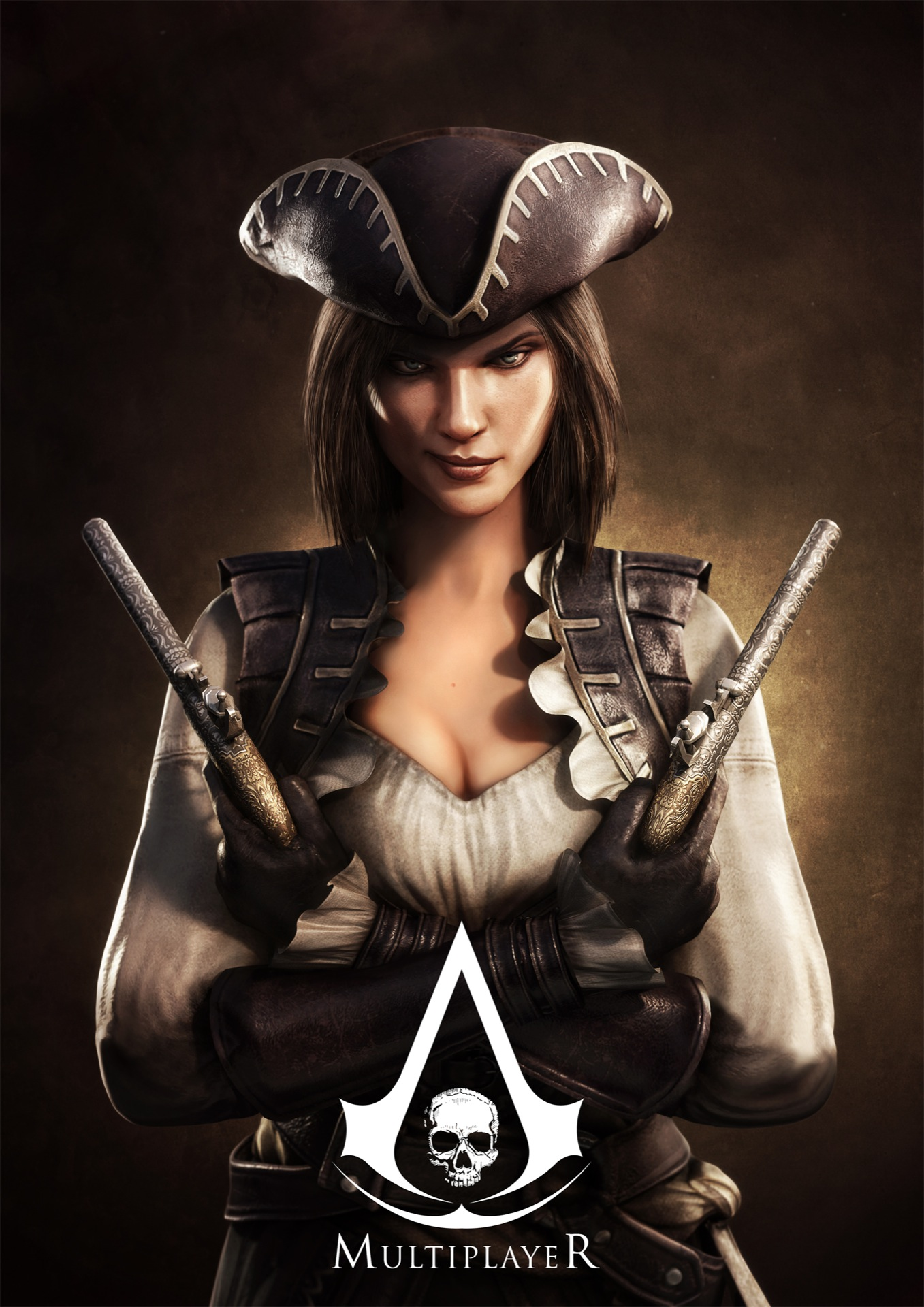 Lady black from assassin's creed 4 online  hentai photos