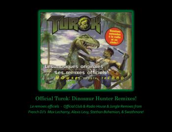 Official Turok: Dinosaur Hunter Remixes. Front. Нажмите, чтобы увеличить.