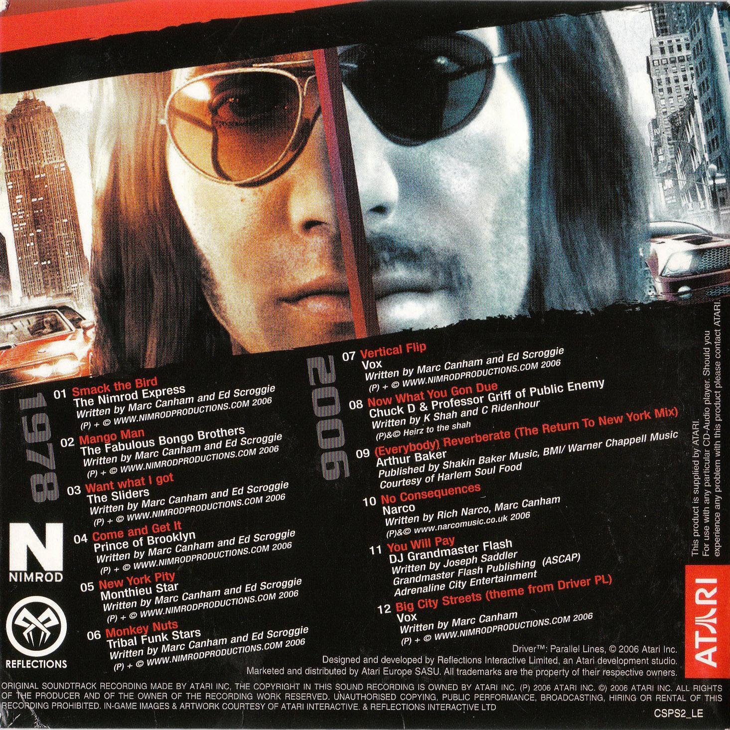 Driver Parallel Lines Soundtrack
