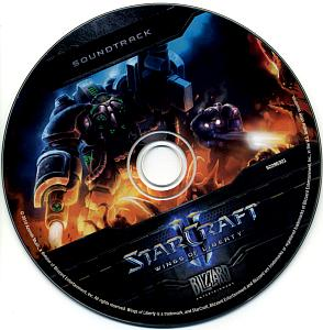 StarCraft II: Wings of Liberty Soundtrack. Disc. Нажмите, чтобы увеличить.