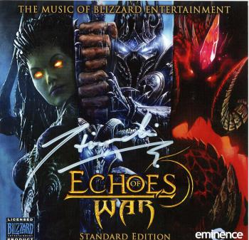 Echoes of War: The Music of Blizzard Entertainment Standard Edition. Front Case (Signed). Нажмите, чтобы увеличить.